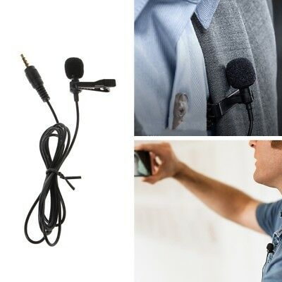 3.5mm Jack Clip On Lapel Microphone Hands Free Wired Condenser Mini Lavalier Mic