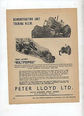 Nuffield Tractor Multipurpose Equipment Advertisement from 1952 Farming Magazine