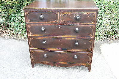 Regency Pine Chest of Drawers in Original Paint
