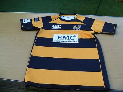 London Wasps 2010-2011 Home Canterbury Rugby Shirt -  (Large)