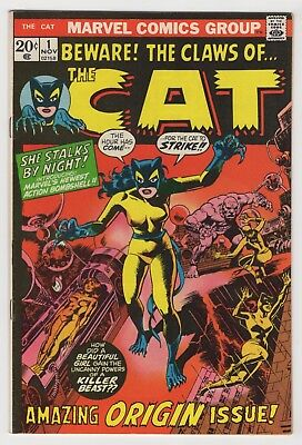 THE CAT 1 (1972) - VF - 1st app./origin The Cat (Later becomes Tigra)