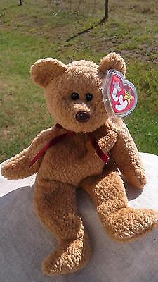 Ty Beanie Baby Bear Curly with Errors - Origiinal-Poem Space-Mint with Mint Tags