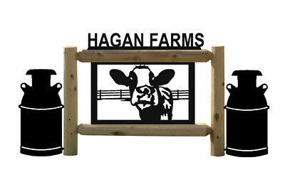 Holstein Cow Signs - Milkcans-Dairy Farms & Ranch Country