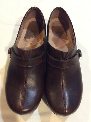 Dansko Women's Professional Leather Shoes Solstice Chocolate  Brown  Clogs