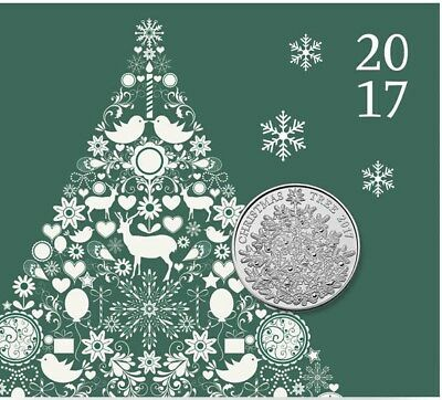2017 £5 Five Pound Coin Christmas Tree £5 Brilliant Uncirculated Coin