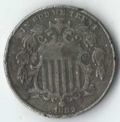 1882 Shield Nickel - Nice type coin - FREE SHIPPING