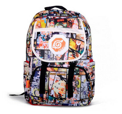 Anime Naruto Printing Backpack Schoolbag Student Shoulder Book Bag Satchel Purse