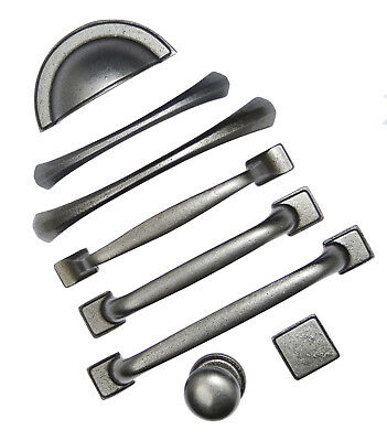 CAST IRON D Handles & Drawer Knobs for Kitchen Cabinet Cupboards and Drawers