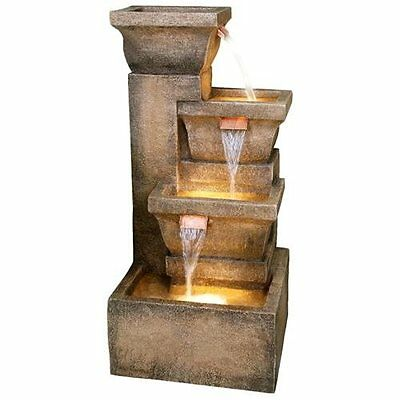 Water Fountain Indoor Outdoor  Zen Vintage Garden Decor Patio Copper Finish New