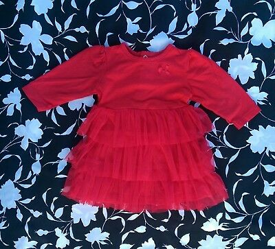 Child of Mine by Carter's Baby Girl Red Christmas Holiday Dress ~ Size 0-3 mos.