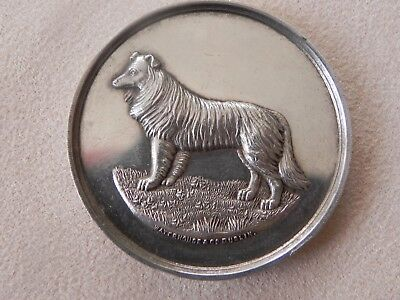 Edwardian Sterling Silver Irish Collie Mallow Show Watch Fob Awards Medal 1902