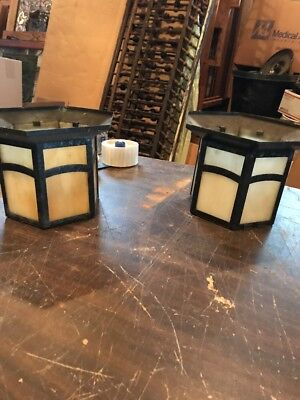 2 Available Price Separate Antique Stainglass Flush Mount Ceiling Fixture