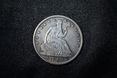 1853 Seated Liberty Half Dollar ~ Type 3 - Arrows and Rays ~ Nice Example!!
