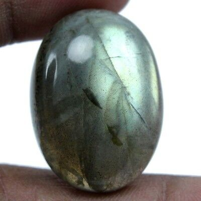 45.80 cts Natural Labradorite Oval Shape Loose Cabochon Multi Flashing Gemstone