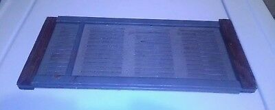 "Vintage Marvin Wood & Metal Window Screen Vent Adjustable 22""w-37""w, 7"" tall"