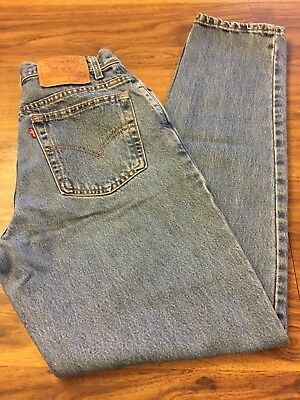 Vintage USA Levi's 550 Relaxed Fit Tapered Leg Blue Jeans Sz. 10 MIS L Mom Jeans