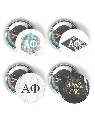 Alpha Phi Marble Variety Pack of Buttons 2.25-inch A Phi