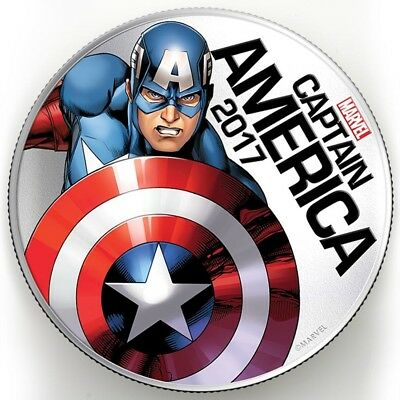 Marvel 2017 Captain America Light-Up Silver Clad Coin
