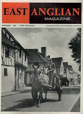 1964  OCT 52861 East Anglian Magazine Cover Picture  LAVENHAM SUFFOLK