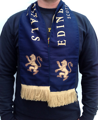 Official Edinburgh Capitals Scarf Blue Navy Lion
