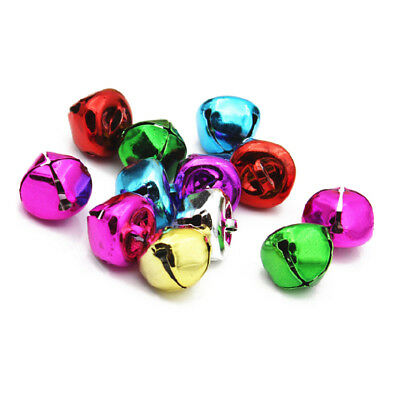 15mm - Jingle bells multi coloured approx 80 bells P8A3