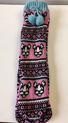Boston Terrier Sweater Slipper With Rubber Dots On Bottom