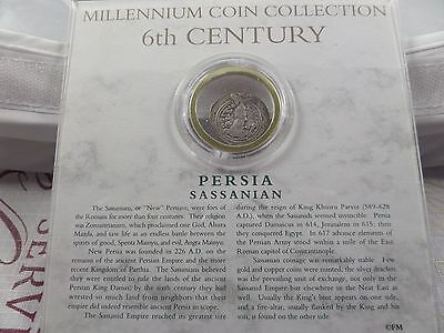 Millennium Collection 6th Century Ancient Persia Sassanian coin