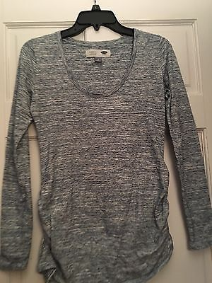 Old navy Maternity Dress blouse Size S gray Long Sleeves New