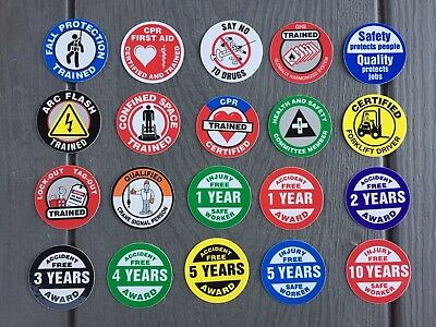"""Safety, Forklift, First Aid, CPR (30 Pack) HardHat, Decal, Sticker (size: 2"""")"""