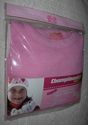 New 2 Piece Pink Size 2T Girls Thermal Underwear Shirt Pants Set Long Johns
