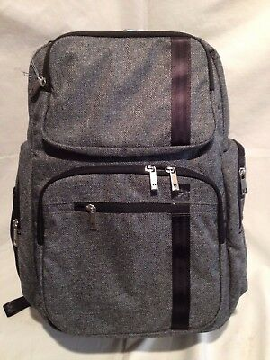 Ju Ju Be XY Vector Backpack Baby Diaper Bag with Light Changing Pad Gray Matter