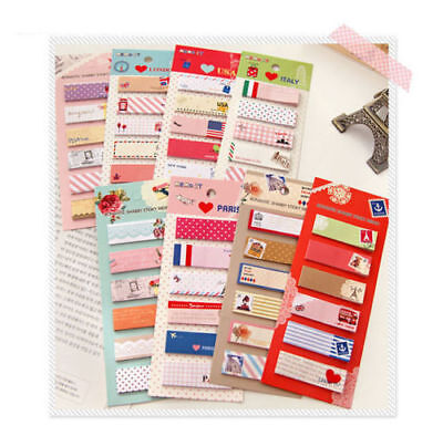 120 Pages Sticker Post It Bookmark Point It Marker Memo Flags Sticky Notes DC174