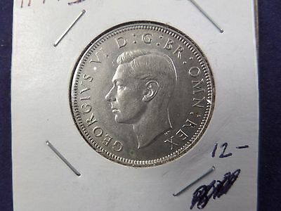 1944 Great Britain Two  Shillings silver coin