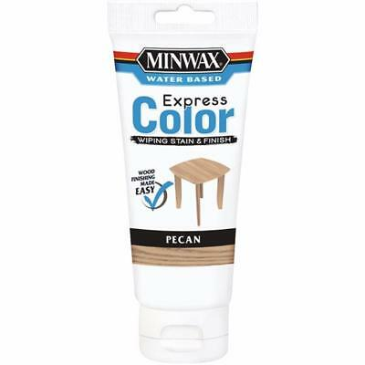 Minwax Express Color Low Lustre Water Based Wiping Stain / Finish Pecan 6 OZ