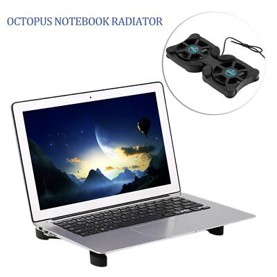 USB Port Mini Octopus Notebook Fan Cooler Cooling Pad For 14inch Laptop Black