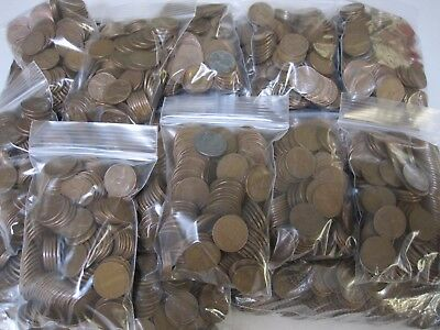 1909 - 1958 1 lb Pound Bag Unsearched Lincoln Wheat Cent Pennies Lot / Free Ship