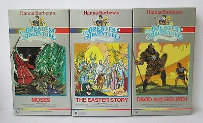 Lot Of 3 Hanna Barbera The Greatest Adventure Stories From The Bible Vhs Tapes