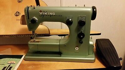 Viking Husqvarna Sweden Special 19E Sewing Machine Vintage. With case.