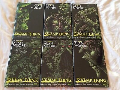 SWAMP THING HARDCOVER SET volume 1-6 by ALAN MOORE hc excellent shape omnibus