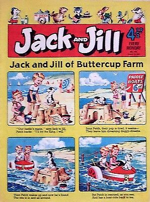 JACK & JILL - 10th AUGUST 1957 (5 - 11 Aug) - YOUR WEEK OF BIRTH ?? FINE+..dandy