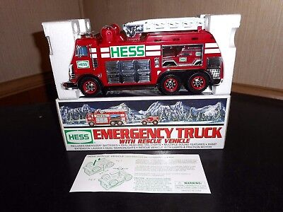 2005 Hess Emergency Truck W/rescue Vehicle Mib