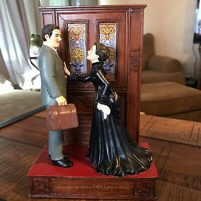 "San Francisco Music Box Gone With The Wind ""Frankly My Dear"" Figurine with Box"