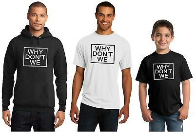 Why Don't We These Girls New Hoodie or T-Shirt Adult and Youth Sizes Black White