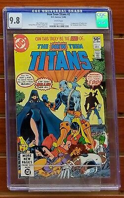 The New Teen Titans #2 Cgc Graded 9.8 White Pages! 1St Appearance Deathstroke!