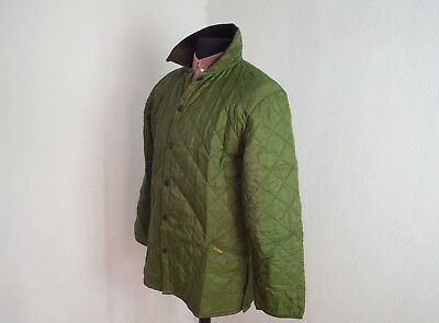 BARBOUR LIDDESDALE Quilted Jacket Mens Green size M Made in ENGALAND M5-6C
