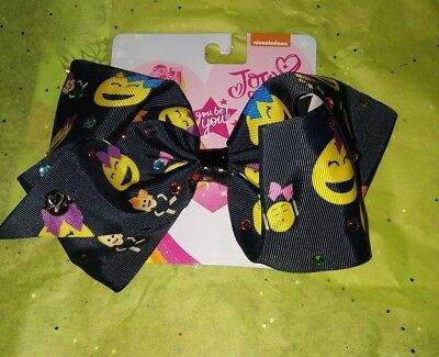 JoJo Siwa Authentic Large Hair Clip Bow Dancing Smile Emoji  NEW