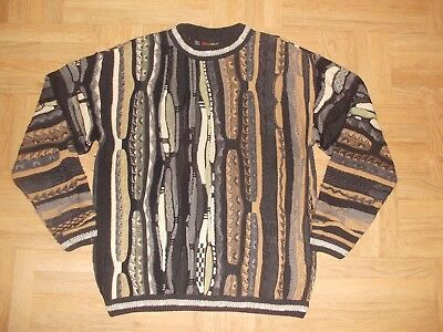 Mens sz L  Bergati Sweater  80s 90s Hip Hop Cosby Biggie Coogi Style Textured