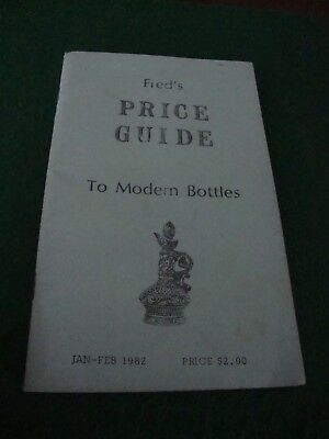 Vintage Collectible Fred's Price Guide To Modern Bottles Catalog Decanters 1982