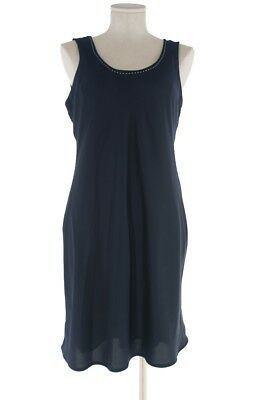 Women's Navy Blue With Stitching Custom Lined Dress Size 10 or Size Medium