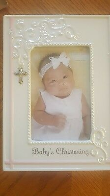 Baby Girl Christening Picture Frame